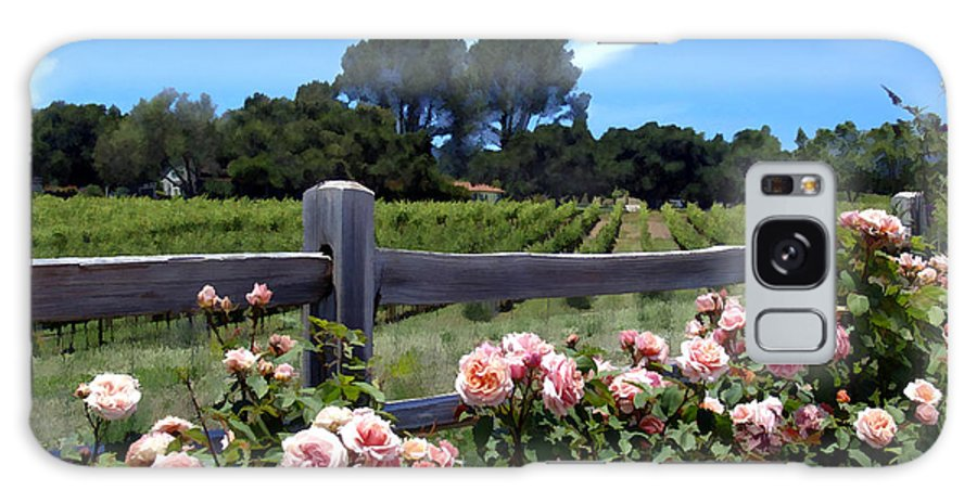 Flowers Galaxy S8 Case featuring the photograph Roses At Rusack Vineyards by Kurt Van Wagner