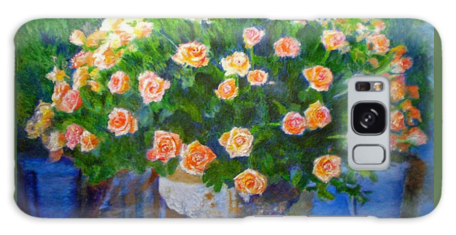 Rose Galaxy S8 Case featuring the painting Roses At Table Bay by Michael Durst