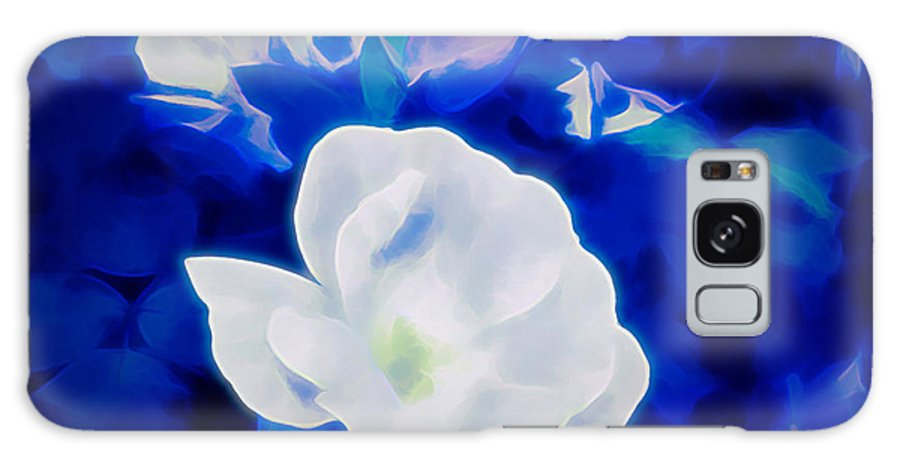 Photograph Galaxy S8 Case featuring the mixed media Roses In Bllue by Debra Lynch