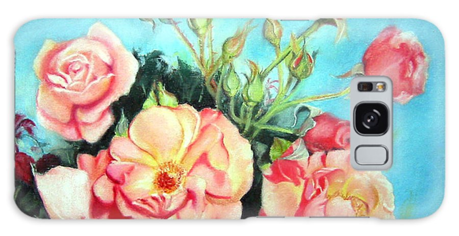 Flowers Galaxy Case featuring the painting Roses by Leyla Munteanu