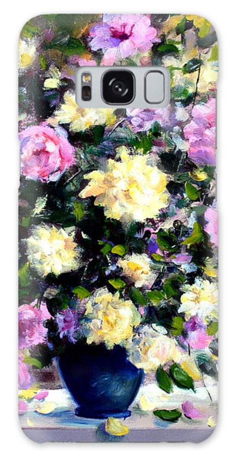 Roses Galaxy S8 Case featuring the painting Roses by Mario Zampedroni