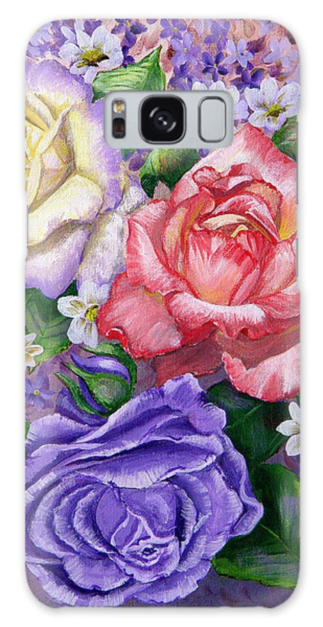 Rose Galaxy Case featuring the painting Roses by Quwatha Valentine