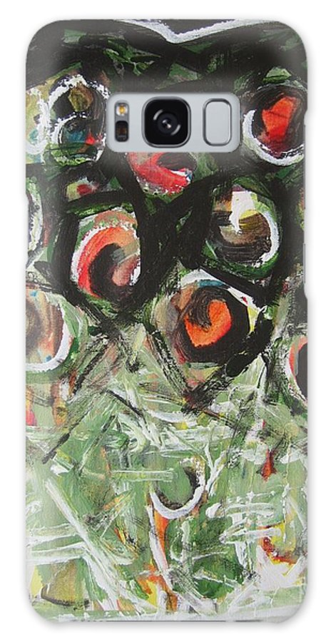 Abstract Painting Galaxy S8 Case featuring the painting Roses by Seon-Jeong Kim