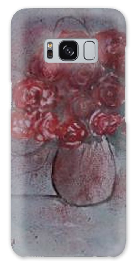 Watercolor Galaxy S8 Case featuring the painting ROSES still life watercolor floral painting poster print by Derek Mccrea