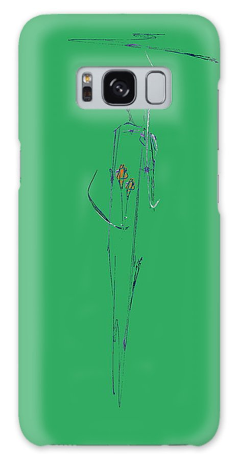 Rose Galaxy S8 Case featuring the drawing Roses Under Umbrella by Viktor Savchenko