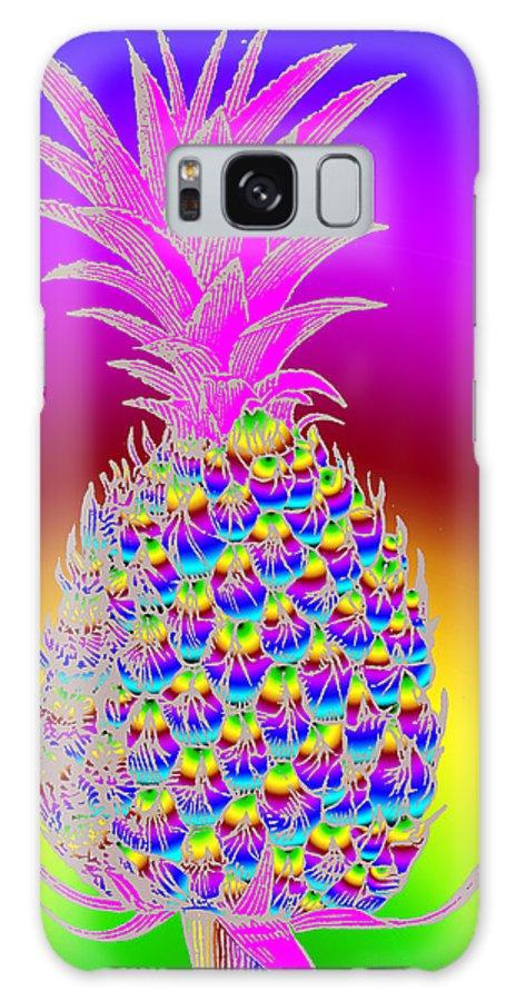 Pineapple Galaxy S8 Case featuring the digital art Rosh Hashanah Pineapple by Eric Edelman