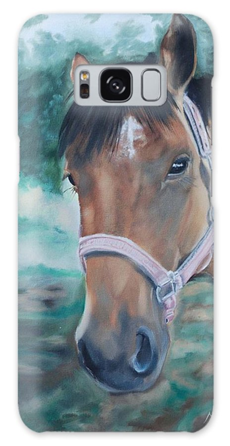 Horse Galaxy S8 Case featuring the painting Rosie by Margaret Fortunato
