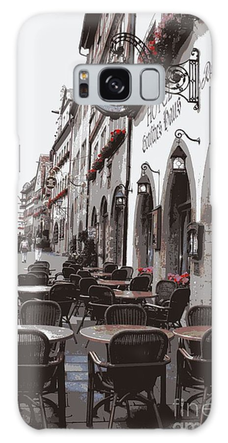 Rothenburg Galaxy S8 Case featuring the photograph Rothenburg Cafe - Digital by Carol Groenen