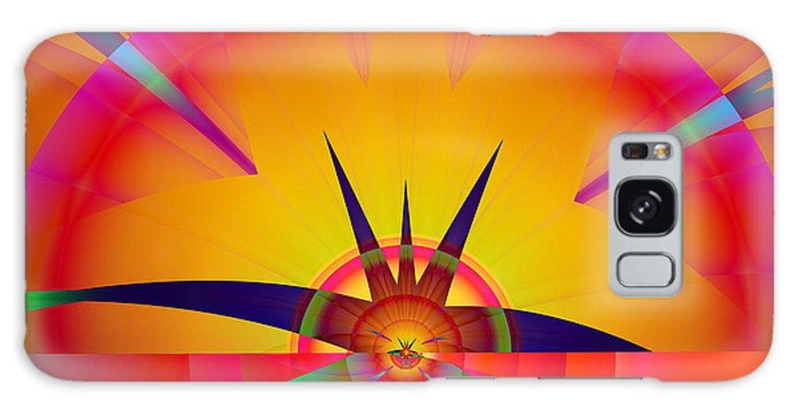 Fractal Galaxy Case featuring the digital art Round burst by Frederic Durville