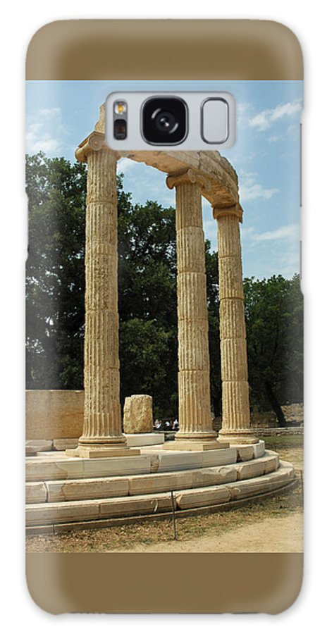 Temple Galaxy S8 Case featuring the photograph Round Temple At Olympia by Deni Dismachek