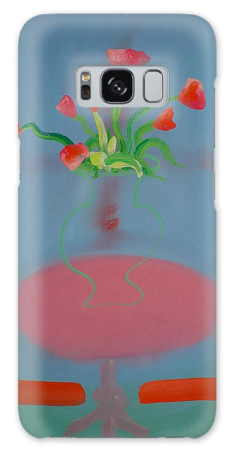 Flower Galaxy S8 Case featuring the painting Rouseau Flowers by Charles Stuart