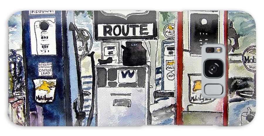 Route 66 Galaxy S8 Case featuring the painting Route 66 by Derek Mccrea