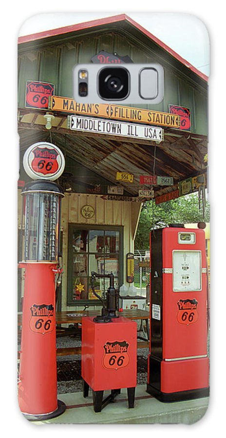 66 Galaxy S8 Case featuring the photograph Route 66 - Shea's Gas Station by Frank Romeo