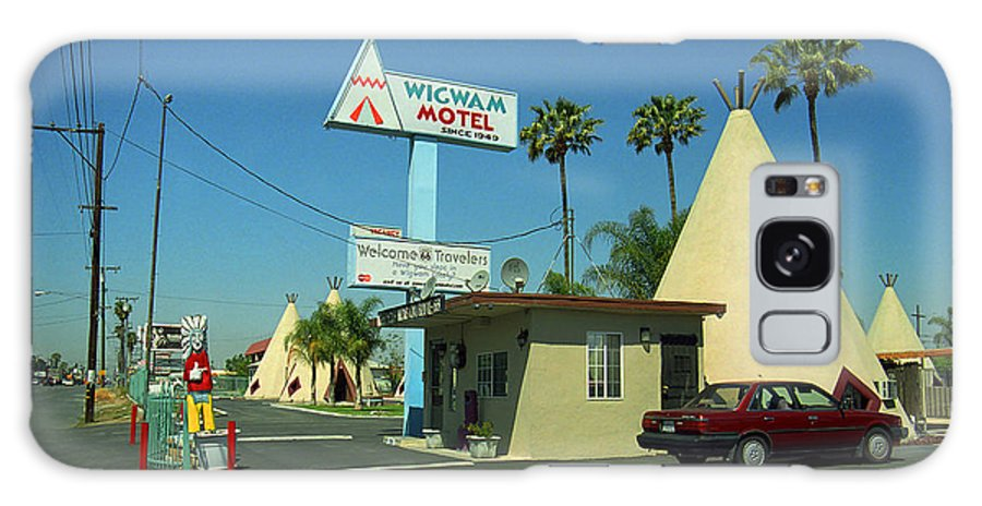 66 Galaxy S8 Case featuring the photograph Route 66 - Wigwam Motel 3 by Frank Romeo