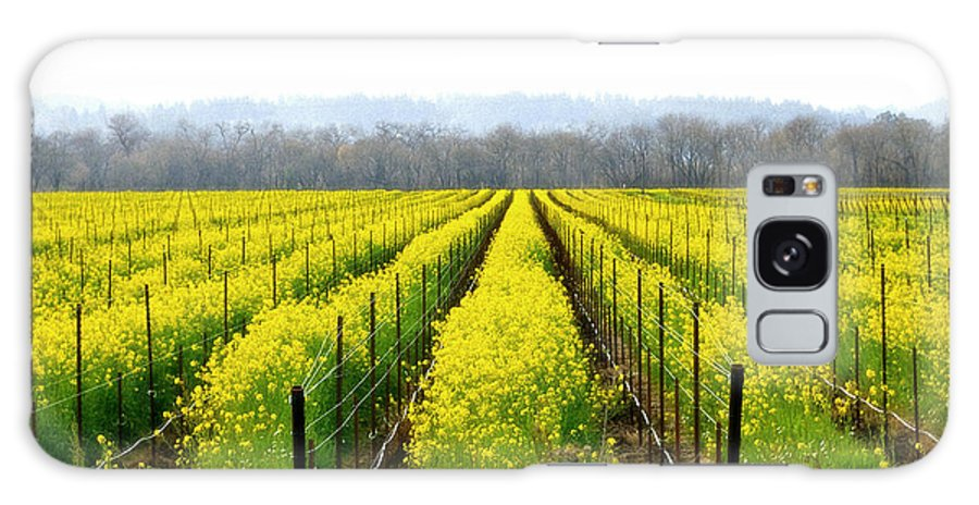 Mustard Galaxy S8 Case featuring the photograph Rows Of Wild Mustard by Tom Reynen