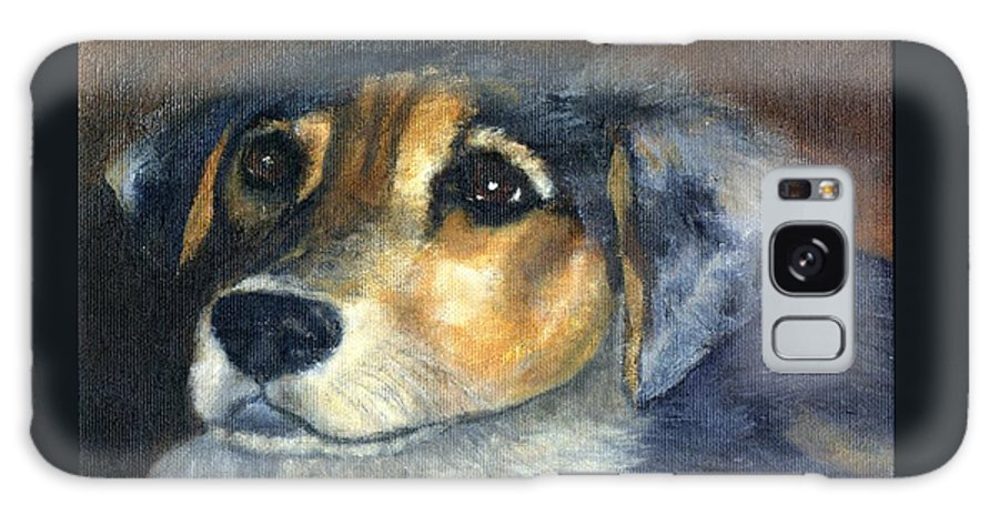 Dog Galaxy Case featuring the painting Roxie by Gail Kirtz