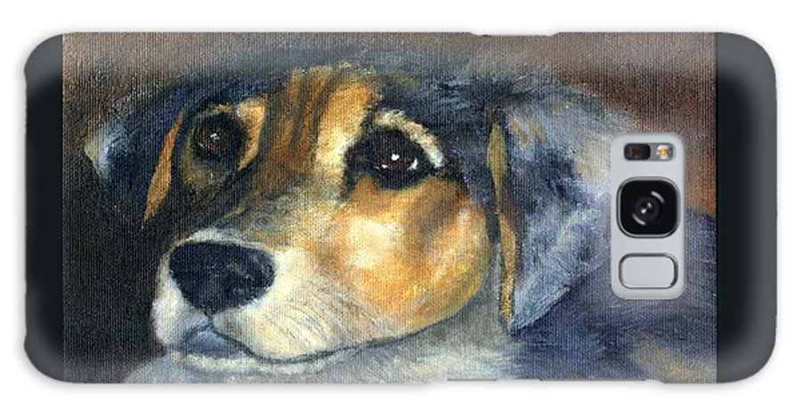 Dog Galaxy S8 Case featuring the painting Roxie by Gail Kirtz