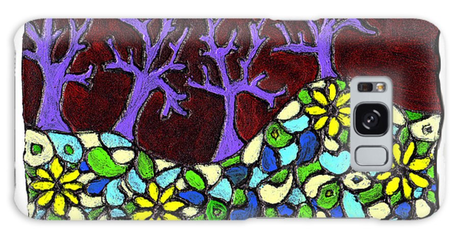 Trees Galaxy Case featuring the painting Royal Forest by Wayne Potrafka