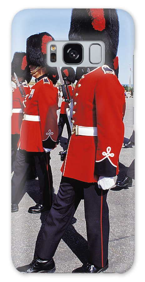 Red Galaxy S8 Case featuring the photograph Royal Guards In Ottawa by Carl Purcell