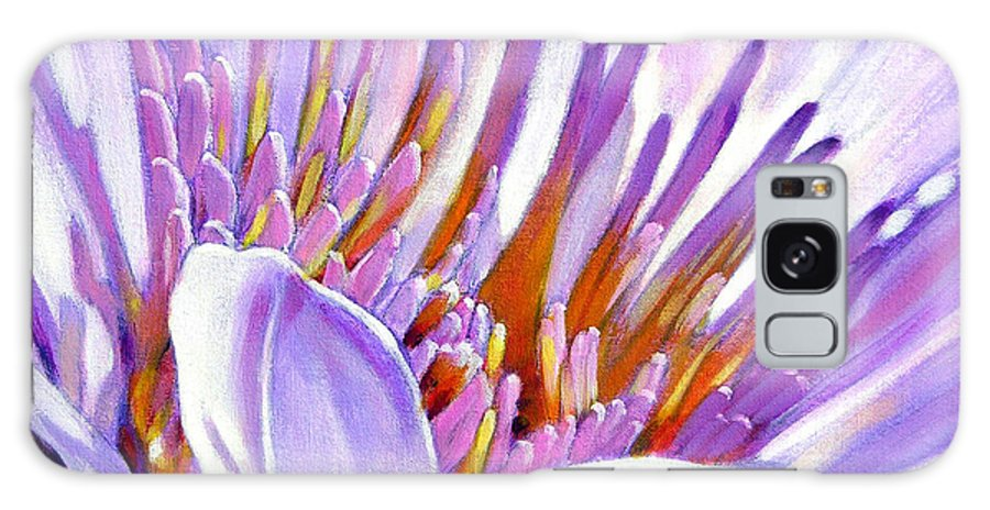 Water Lily Galaxy Case featuring the painting Royal Purple And Gold by John Lautermilch
