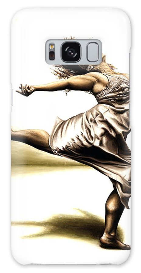 Rubins Galaxy S8 Case featuring the painting Rubinesque Dancer by Richard Young