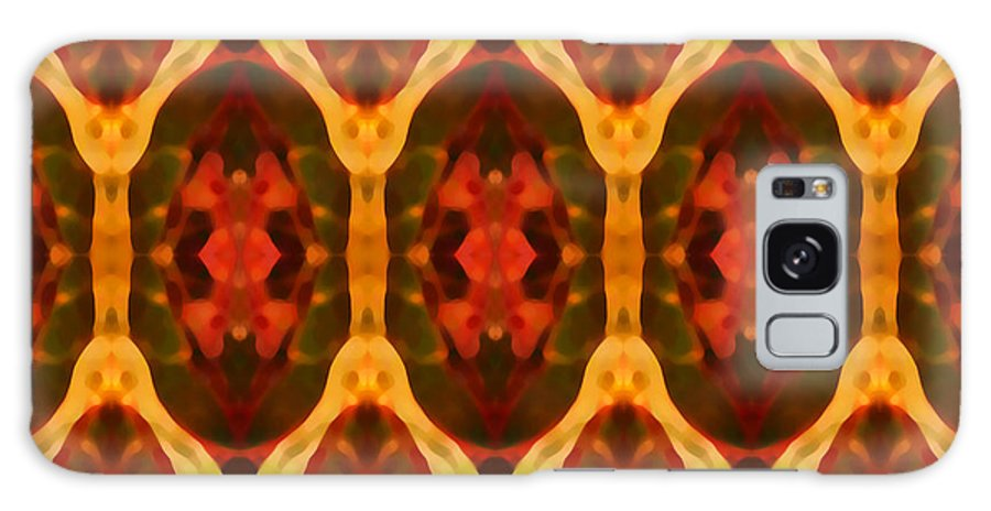 Abstract Galaxy Case featuring the painting Ruby Glow Pattern by Amy Vangsgard