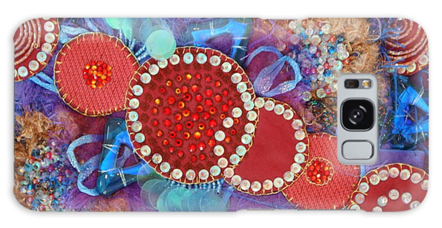 Galaxy Case featuring the mixed media Ruby Slippers 1 by Judy Henninger