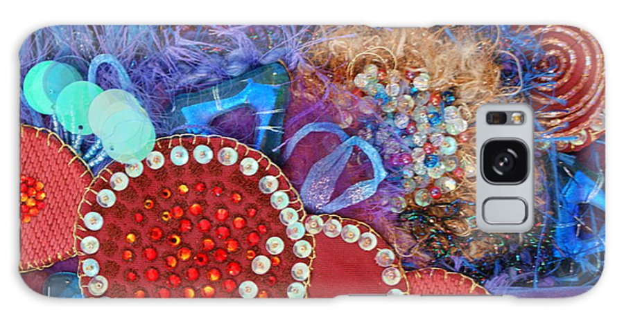 Galaxy S8 Case featuring the mixed media Ruby Slippers 3 by Judy Henninger