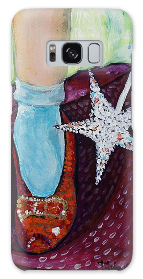 Ruby Slippers Galaxy S8 Case featuring the painting Ruby Slippers by Tanya Johnston