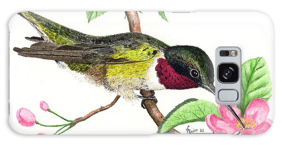 Hummingbird Galaxy S8 Case featuring the painting Ruby-throated Hummingbird by Lynn Quinn