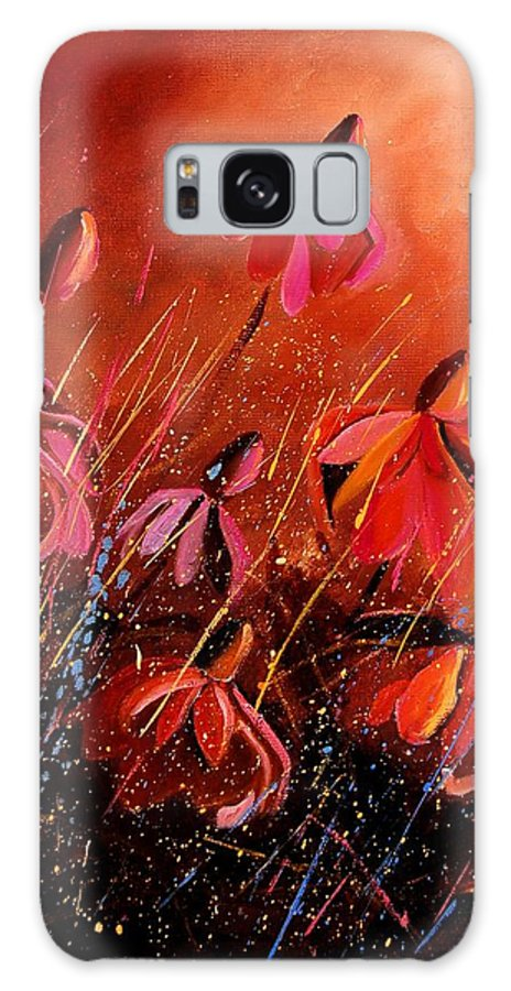 Poppies Galaxy Case featuring the painting Rudbeckia's 45 by Pol Ledent