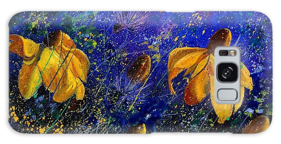 Poppies Galaxy Case featuring the painting Rudbeckia's by Pol Ledent
