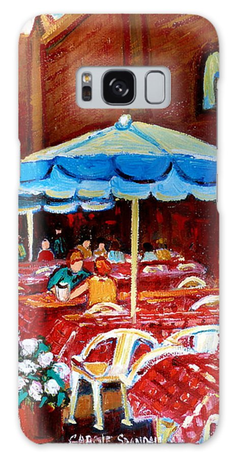 Rue Prince Arthur Galaxy S8 Case featuring the painting Rue Prince Arthur by Carole Spandau