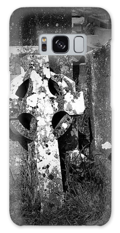 Celtic Galaxy Case featuring the photograph Rugged Cross At Fuerty Cemetery Roscommon Ireland by Teresa Mucha