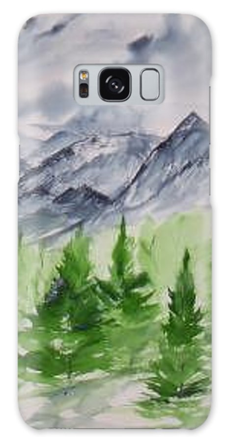 Plein Air Galaxy S8 Case featuring the painting Ruidoso NM southwestern mountain landscape watercolor painting poster print by Derek Mccrea