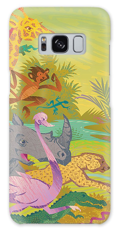 Run For The Zoo Galaxy S8 Case featuring the digital art Run For The Zoo by John Rose