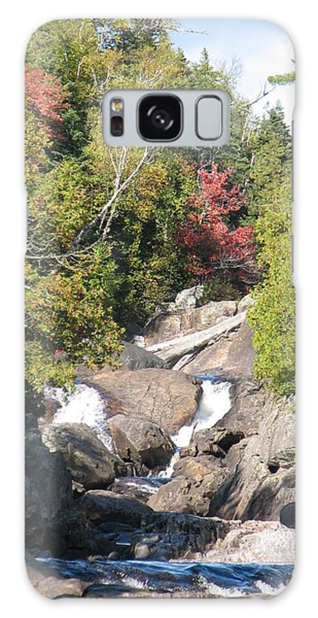 Waterfall Galaxy Case featuring the photograph Running Through The Woods by Kelly Mezzapelle