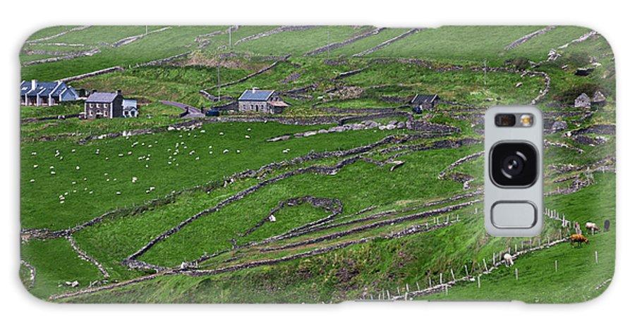 Republic Of Ireland Galaxy S8 Case featuring the photograph Rural Landscape On Dingle Peninsula by Gabriela Insuratelu