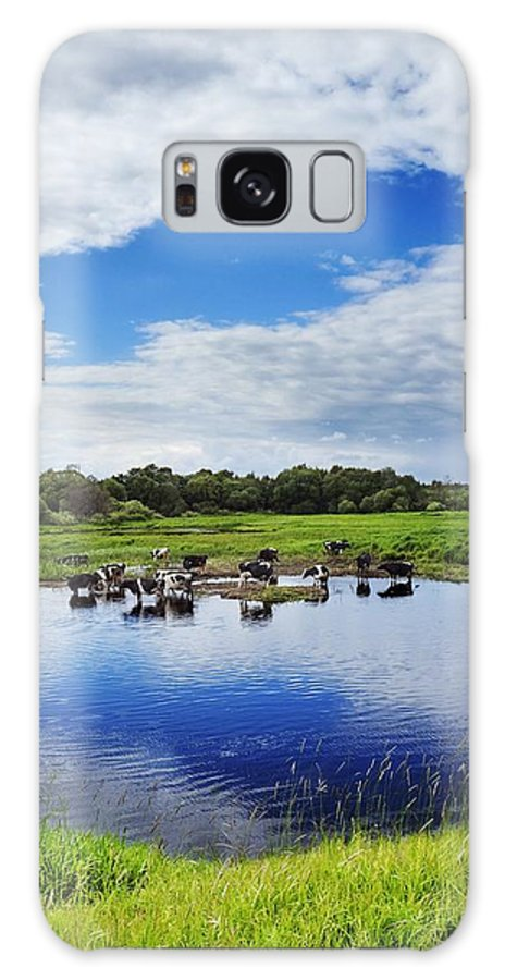Air Galaxy S8 Case featuring the photograph Rural Landscape by Vadzim Kandratsenkau
