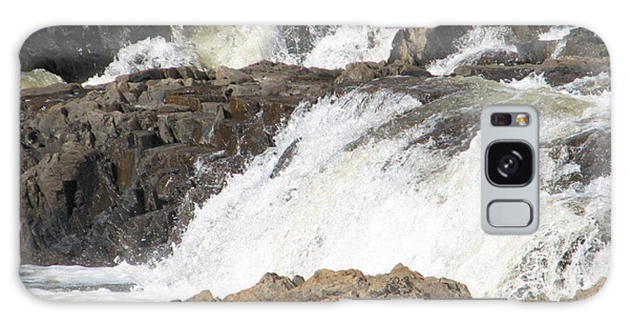 Waterfall Galaxy Case featuring the photograph Rushing by Kelly Mezzapelle