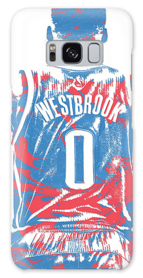 brand new cb51c 0f6aa Russell Westbrook Oklahoma City Thunder Pixel Art 16 Galaxy S8 Case
