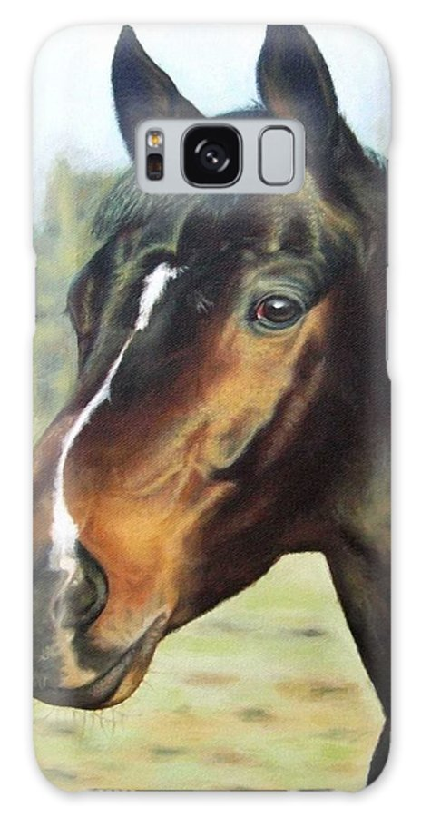 Horse Galaxy Case featuring the painting Russian Horse by Nicole Zeug