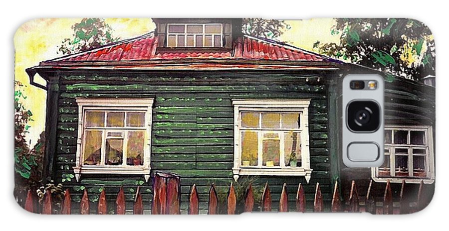 Russia Galaxy S8 Case featuring the mixed media Russian House 2 by Sarah Loft