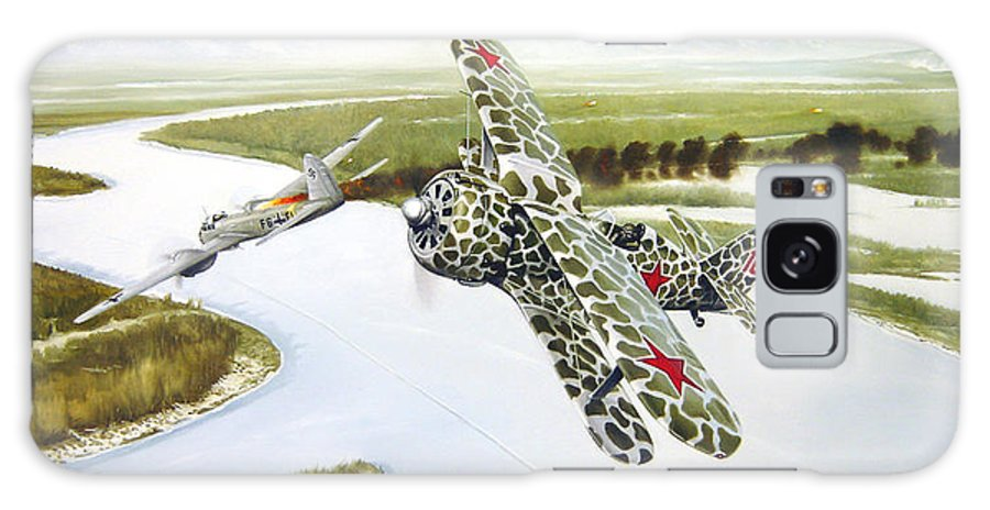 Aviation Galaxy Case featuring the painting Russian Roulette by Marc Stewart