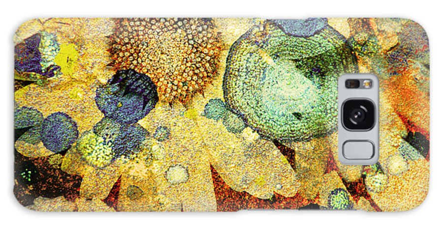 Texture Galaxy S8 Case featuring the photograph Rust And Flowers by Tara Turner