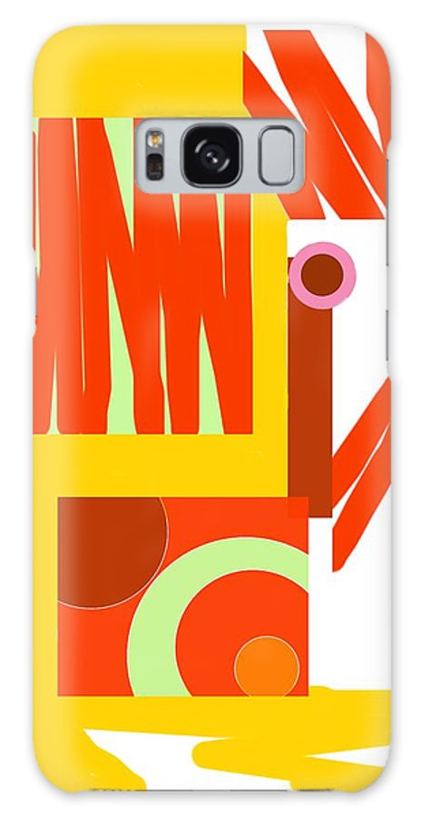 Rust Galaxy S8 Case featuring the digital art Rust Gold 3 by Julia Woodman