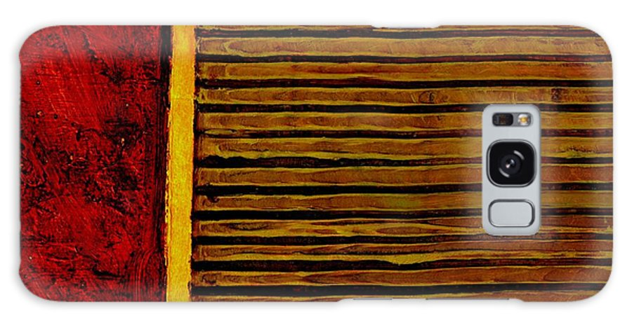 Rustic Galaxy Case featuring the painting Rustic Abstract One by Michelle Calkins