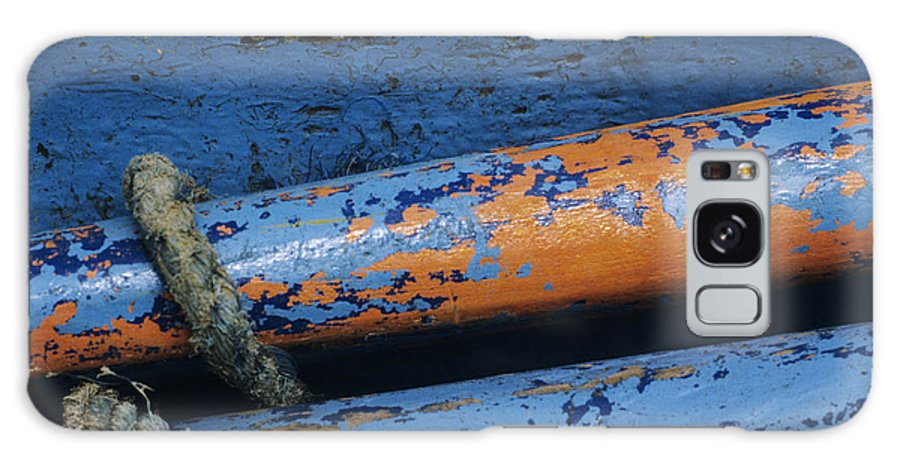 Abstract Galaxy S8 Case featuring the photograph Rustic Boat by Larry Dale Gordon - Printscapes