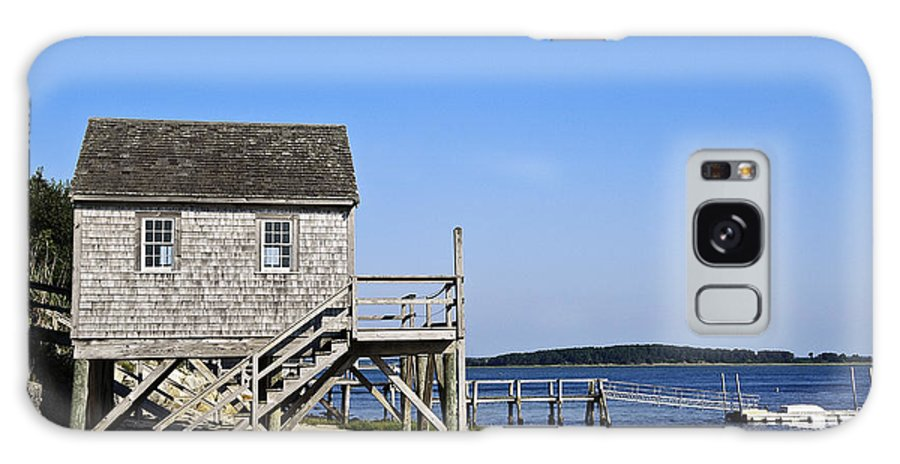 Beach Galaxy S8 Case featuring the photograph Rustic Boathouse On The Beach. by John Greim