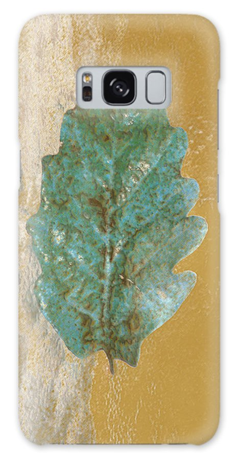 Leaves Galaxy S8 Case featuring the photograph Rustic Leaf by Linda Sannuti